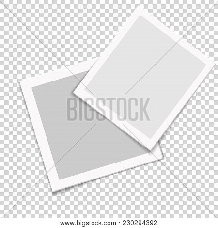 Vector Photo Frames To Submit Your Creative Design And Family Photo, Friends Photo. Use For Your Wor