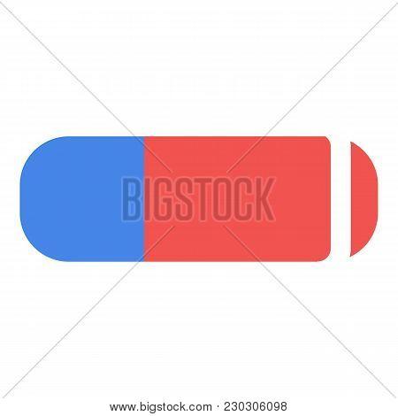 Eraser Icon. Flat Illustration Of Eraser Icon For Web