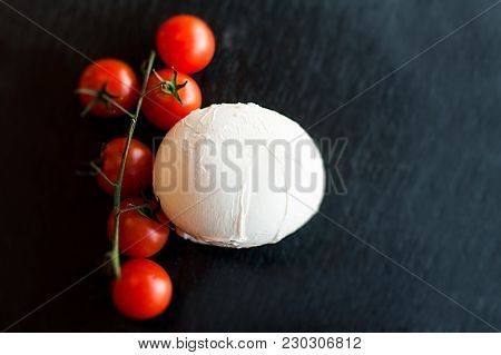 Still Life: Mozzarella And Tomatoes For Your Pizza