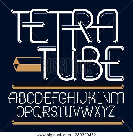 Set Of Trendy Fun  Vector Capital English Alphabet Letters Isolated. Special Type Font, Script From