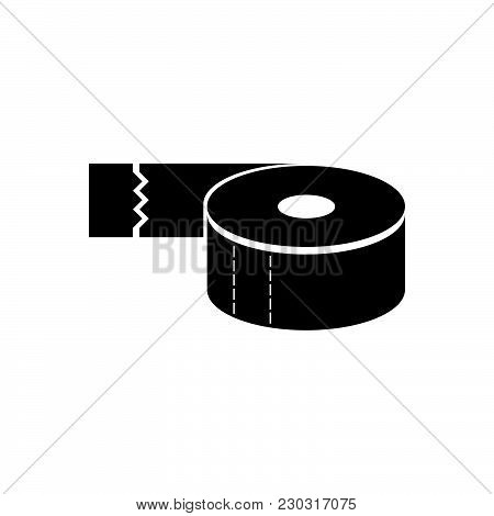 Adhesive Tape Vector Icon On White Background. Adhesive Tape Modern Icon For Graphic And Web Design.