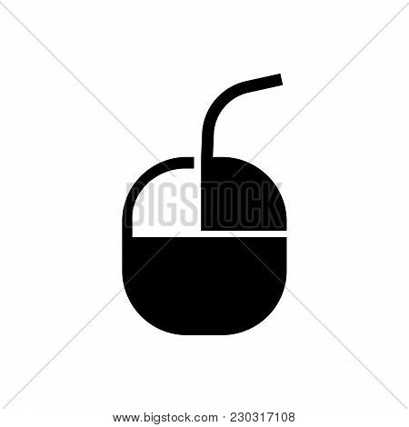 Computer Mouse Vector Icon On White Background. Computer Mouse Modern Icon For Graphic And Web Desig