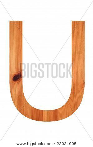 Wood Alphabet U