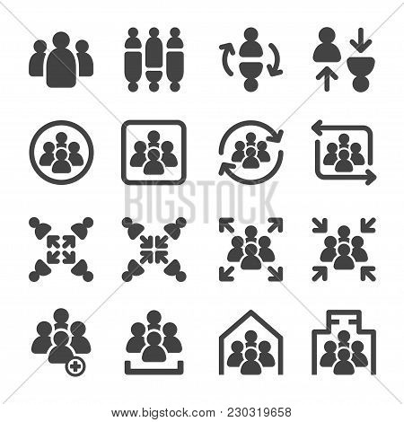 People And Group Icon Set Vector Illustration