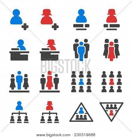 Leader And Leadership Icon Set Vector Illustration