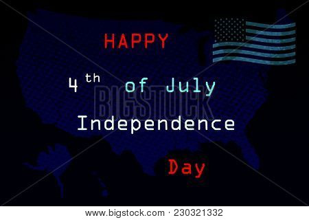 Fourth Of July, United Stated Independence Day Greeting. July 4th Typographic Design. Usable For Gre