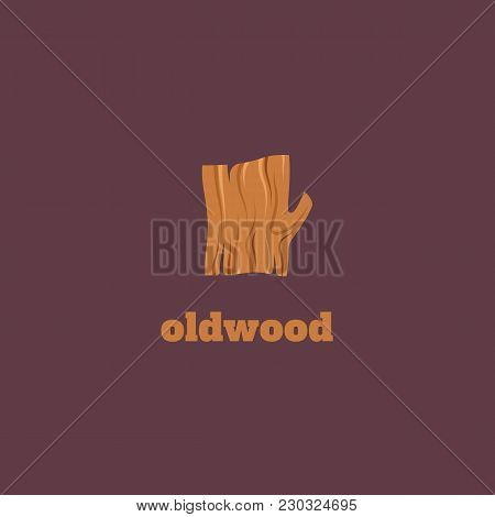 Vector Flat Logotype Of Wood. Snag Logo.