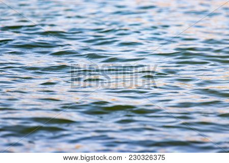 Expanse Of Water In The Lake As A Backdrop .