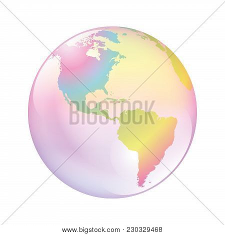 Earth Bubble. The World As A Fragile Planet, Symbol For Vulnerable Nature, Climate, Environment, Man