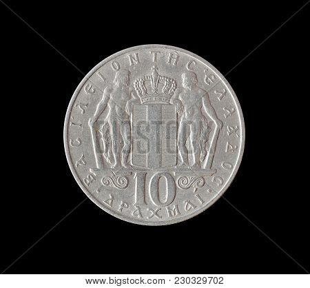 Vintage Ten Drachma Coin Made By Greece 1968