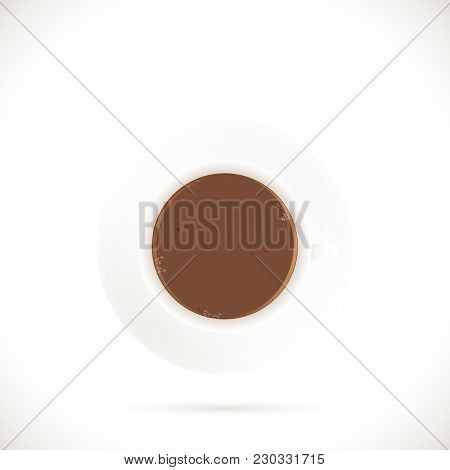 Illustration Of A Coffee Cup Isolated On A White Background.