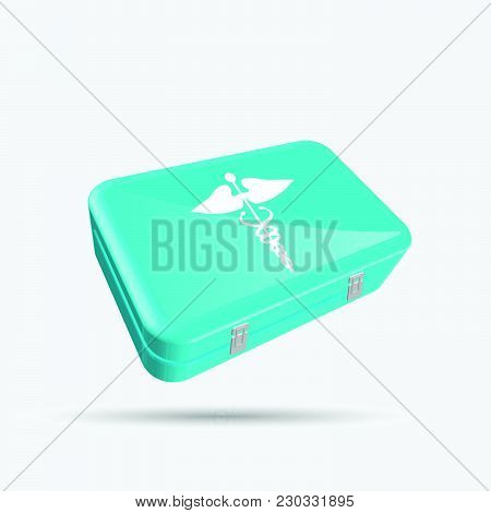 First Aid Kit Isolated On A White Background.