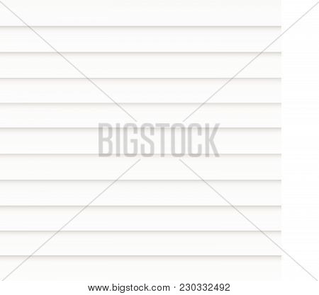 Illustration Of A Tattered Flag Of United States Of America Isolated On A White Background.