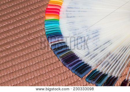 Nail Polish. Gel Polish. Nail Polish In Different Colors. Tips. Nail Palette.