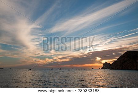 Sunrise View Of Lands End In Cabo San Lucas In Baja California Mexico Bcs