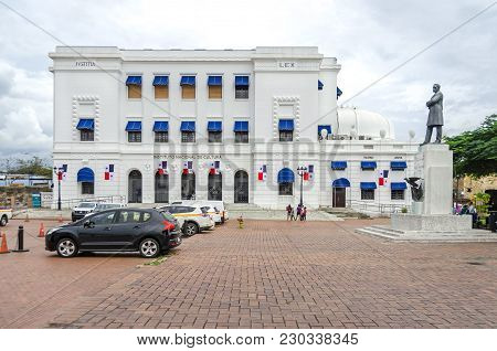 Panama City, Panama - November 3, 2017: National Institute Of Culture In The Historic District Casco