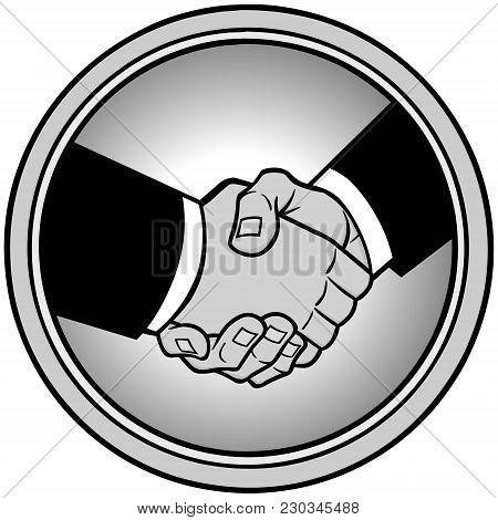 Sealed Deal Icon Illustration - A Vector Cartoon Illustration Of A Sealed Deal Icon Concept.