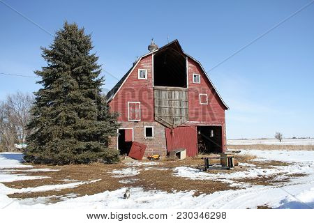A Abandoned Barn On A Farm In The Midwest The Haymow Was Used For Barn Dances In The Past.