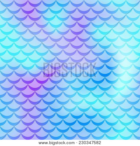 Violet Mint Mermaid Skin Vector Background. Cold Gamma Iridescent Background. Fish Scale Pattern. Se