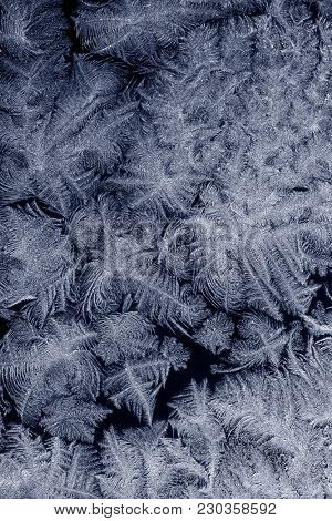 Frost patterns on window glass