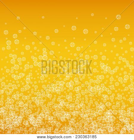 Oktoberfest Background With Beer. Cool White Foam With Bubbles And Spray. October Bavarian Festival.