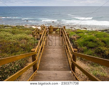 Stairs To The Beach At Moses Rock Road Carpark Near Margaret River, Western Australia