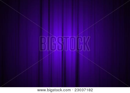 Blue Stage Curtain with Spotlight