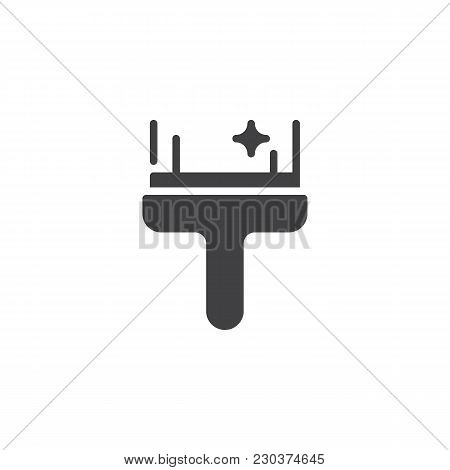 Glass Cleaner Vector Icon. Filled Flat Sign For Mobile Concept And Web Design. Window Wiper Scraping
