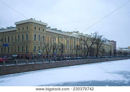 Saint Petersburg, Russia - January 30, 2018: Building Of Saint-petersburg State University Of Aerosp
