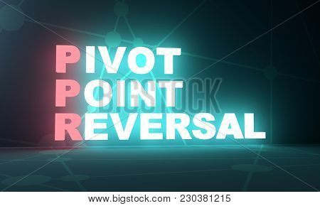 Trading Dictionary. Financial Market Concept. Acronym Ppr - Pivot Point Reversal. 3d Rendering