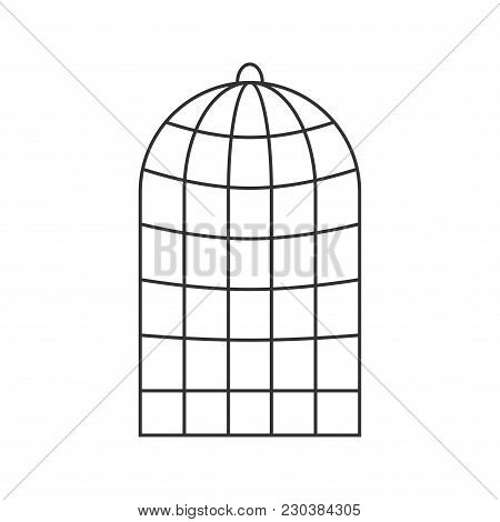 Cage For Birds Isolated. Trap For Parrots. Vector Illustration.