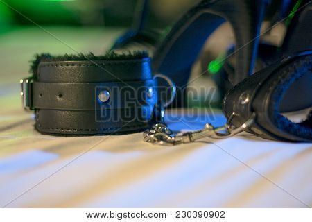 Handcuffs For Erotic Games. Submission. Bondage. No People