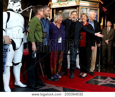 LOS ANGELES - MAR 8:  Mark Hamill, Siblings at the Mark Hamill Star Ceremony on the Hollywood Walk of Fame on March 8, 2018 in Los Angeles, CA