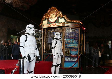 LOS ANGELES - MAR 8:  Storm Troopers at the Mark Hamill Star Ceremony on the Hollywood Walk of Fame on March 8, 2018 in Los Angeles, CA
