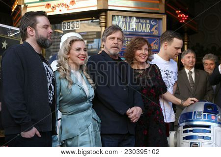 LOS ANGELES - MAR 8:  Griffin, Chelsea, Mark, Marilou, and Nathan Hamill at the Mark Hamill Star Ceremony on the Hollywood Walk of Fame on March 8, 2018 in Los Angeles, CA