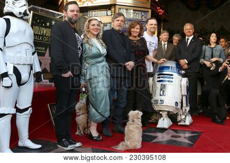 LOS ANGELES - MAR 8:  Griffin and Chelsea Hamill, Mark, Marilou, and Nathan Hamill at the Mark Hamill Star Ceremony on the Hollywood Walk of Fame on March 8, 2018 in Los Angeles, CA