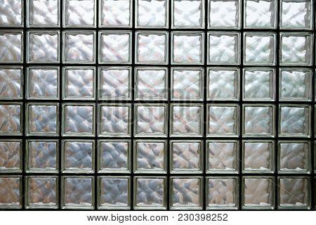Pattern Of Glass Block Wall, Glass Block Wall Background