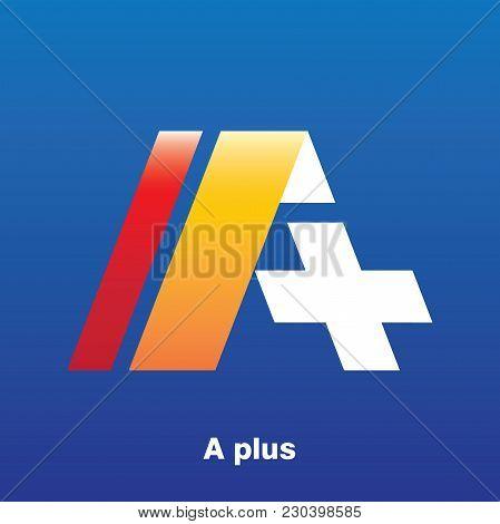 A+ Letter Logo Design Vector Illustration Template, A Letter Logo Vector, Letter A And + Logo Vector