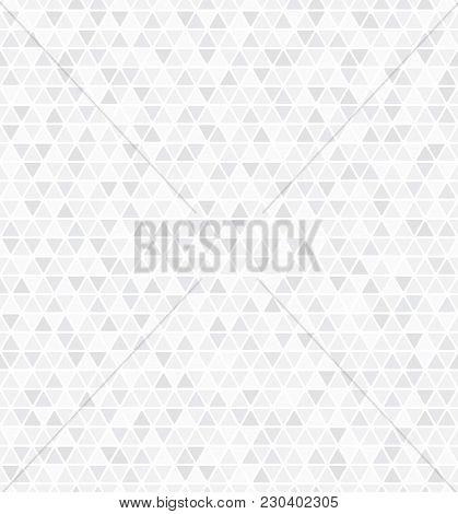 Abstract Geometric Pattern With Triangles. A Seamless Vector Background. White And Grey Ornament. Gr