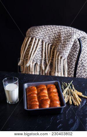 Homemade Brioche Hamburger Buns - food and drink