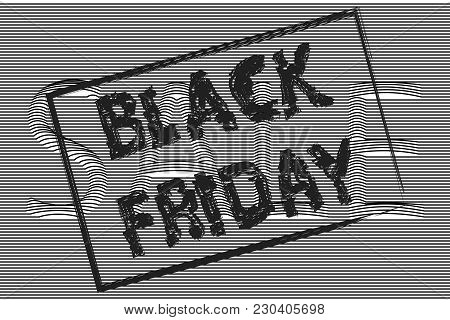 Black Friday,the Text Is Written With A Brush, Sale Banner, Background Of Signage Sale, Outlines Of