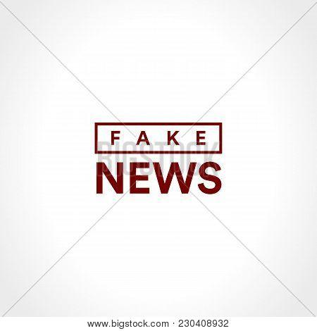 Fake News Icon. Disclosure Of Classified Information. Minimalistic Style Information Agency Minimali