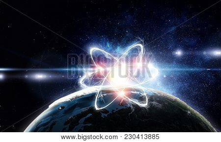 Astronomy concept backdrop. 3d rendering