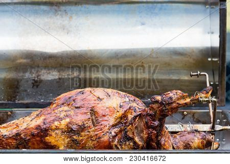 Whole Lamb On A Spit Bbq Brazil For Spring Festival