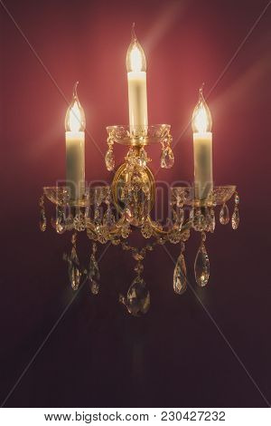 Wall Lamp In Classic Style Hanging On Your Wall. Interior