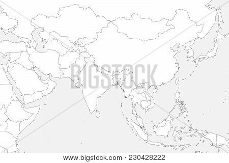 Blank Political Map Vector Photo Free Trial Bigstock