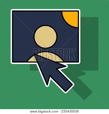 Sticker Web Design Elements Picture Mouse Arrow Icon