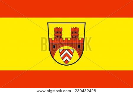 Flag Of Bielefeld Is A City In The Ostwestfalen-lippe Region In The North-east Of North Rhine-westph