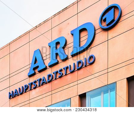 Berlin, Germany - December 8, 2017: Office Building Of Ard Onsortium Of Public Broadcasters In Berli