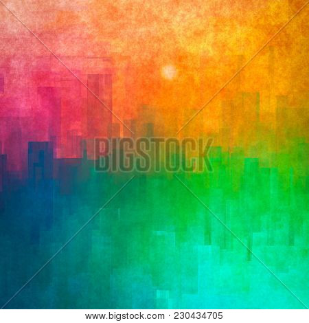 Illustration of a stylish abstract cityscape background